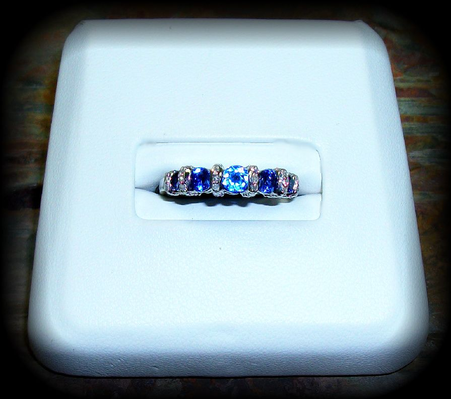 September Chatham Sapphire Birthstone Ring in White Gold http://www.nationaldiamondcompany.com/#!birthstone/c135n