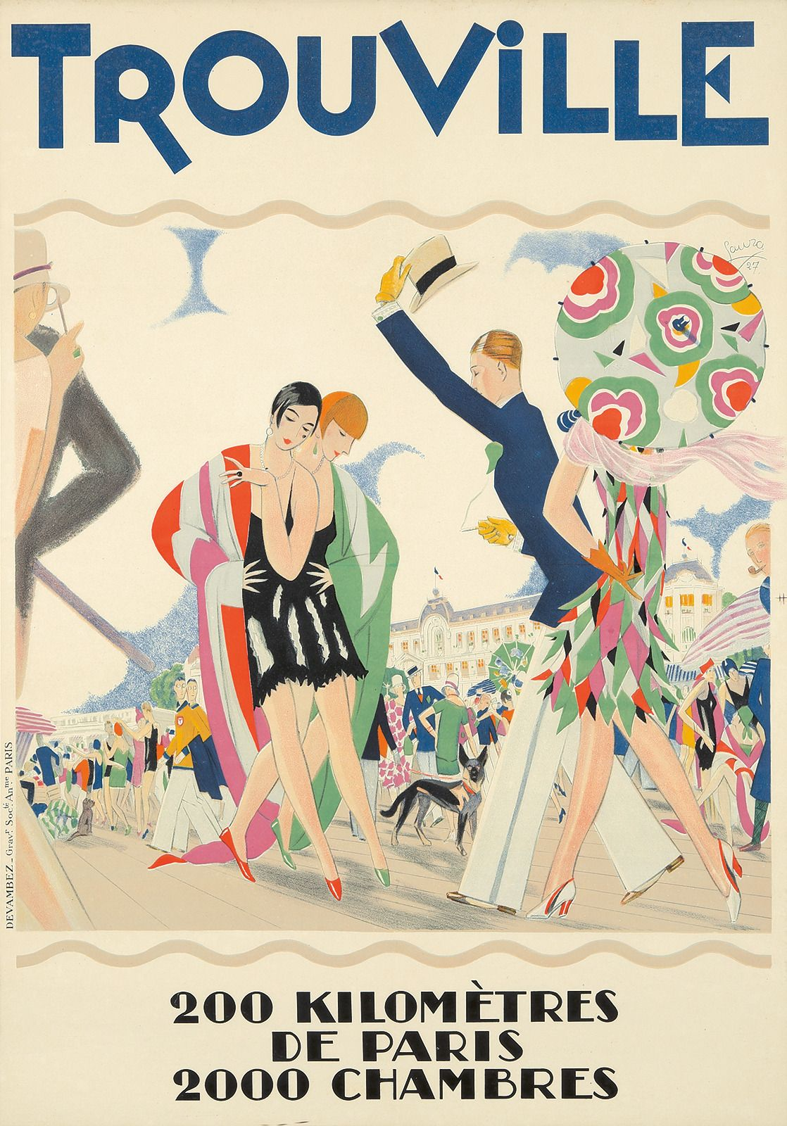 Maurice Lauro 1927 Art Deco Posters Vintage Posters Travel Posters