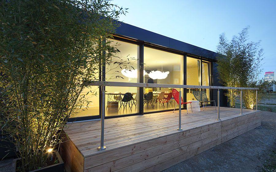 cubig flachdach fertighaus haus pinterest autarkes haus haus und haus bungalow. Black Bedroom Furniture Sets. Home Design Ideas