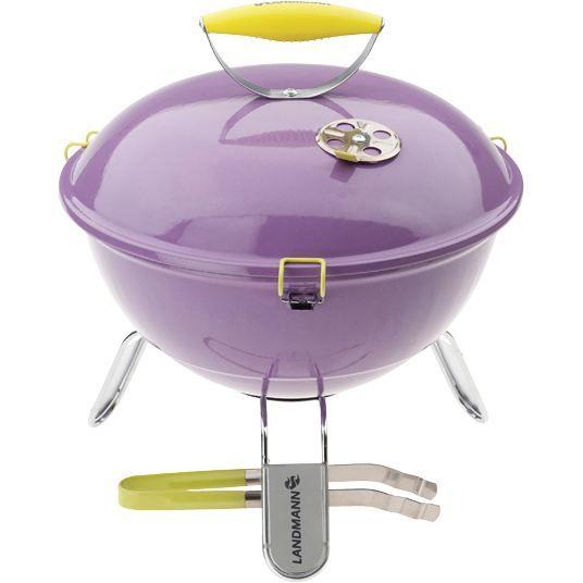 LANDMANN Barbecue à charbon sphérique Piccolino – Violet lavande