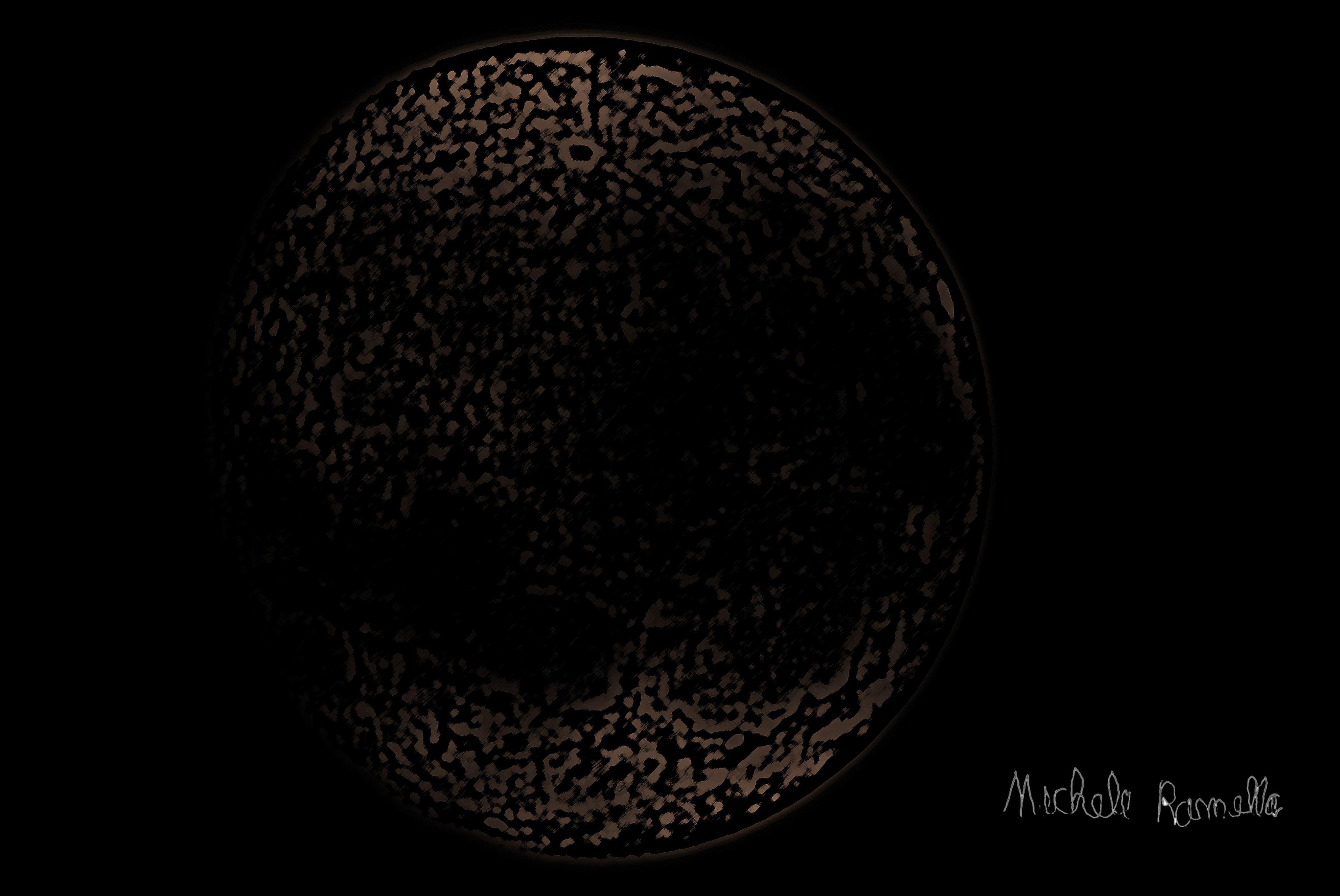 Tenebra Lunare vuole rivelare la parte nascosta della Luna, quella tenebra che ricalca l'inesplicabile della non conoscenza