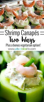 Photo of Easy Entertaining Party Recipes: Canapes with Shrimp, Cream Cheese, and Cucumber…