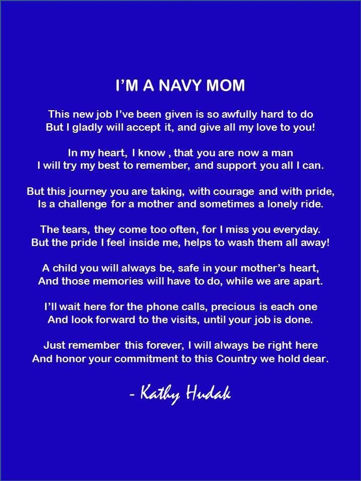 Pin by Navy Mom on Poems for My Sailor ... My Son | Navy ...