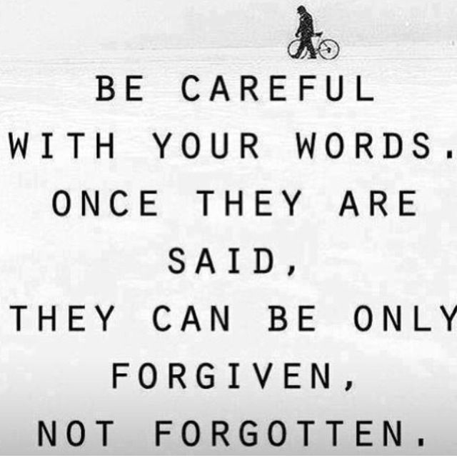 Some Words Can Never Be Forgottenwatch What You Say You Cant