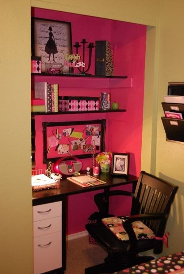 Closet Turned Into Desk / Office. For That Extra Closet. I Like The Idea Of  Painting The