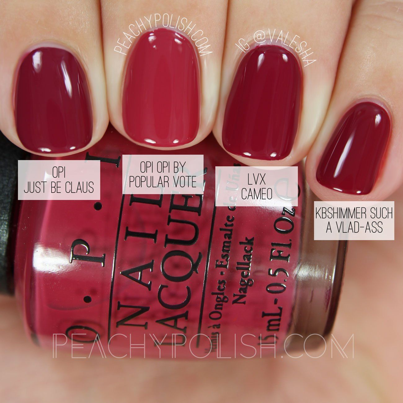 OPI OPI By Popular Vote | Washington D.C. Collection Comparisons ...