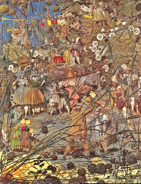 Art print POSTER Canvas Richard Dadd The Fairy Feller/'s Master Stroke