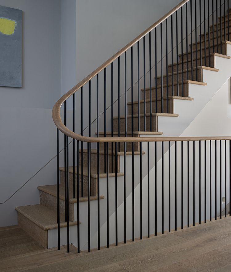 Vertical Stair Railing Metal Rods