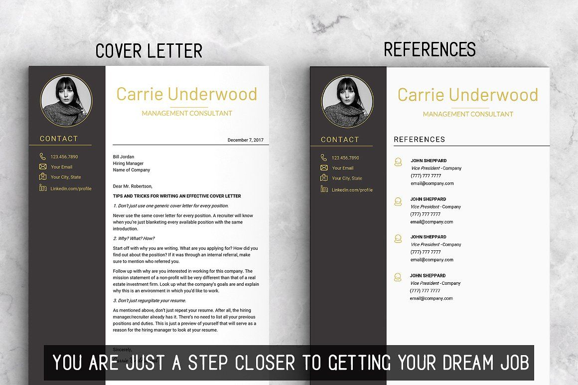 Modern Resume Template with Photo FreeFontsMACCustomer