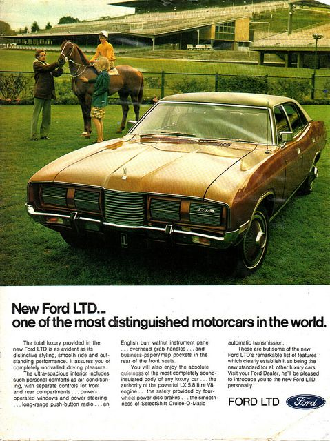 '73-76 P5 LTD by Ford (Aussie) Advert