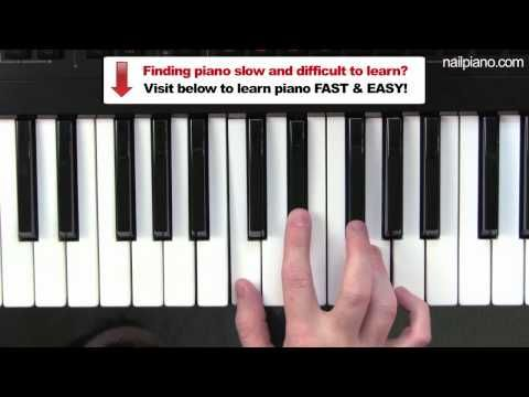 How To Play C Minor Chord Piano Lesson Easy Beginners Free