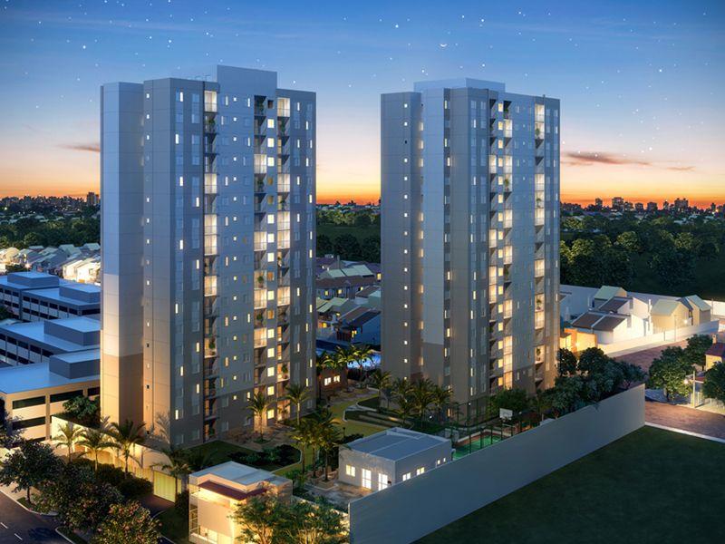 Vista do Empreendimento - apartamentos de 2 e 3 dormitórios com suíte e terraço.