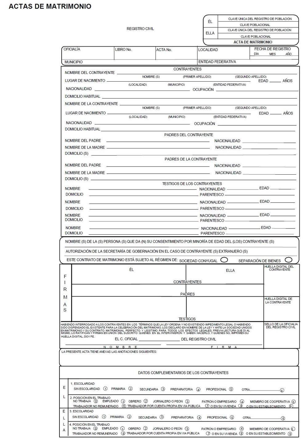 Formato De Acta De Matrimonio Con Imagenes Acta De Matrimonio Certificado De Matrimonio Matrimonio Formato cotizacion de servicios profesionales