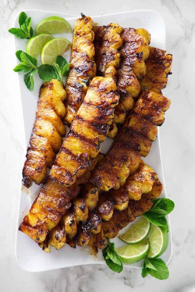 Grilled Pineapple with Cinnamon Sugar - Savor the Best