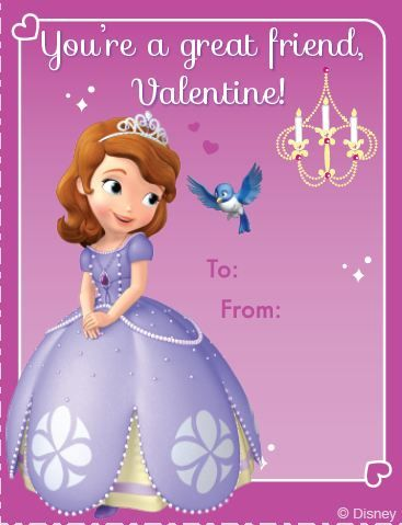 #Free Printable Valentine Cards... Sophia the First