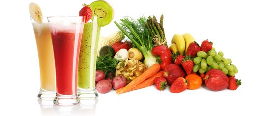 Fruit & Veggie Smoothies. Don't forget to add Chia Seeds, Hemp Seeds and Flax if you so desire ;)