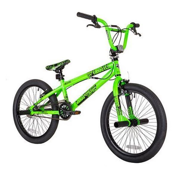 20 Boys Bmx Bike Freestyle Single Speed Trick Stunt Pegs Dirt Knobby Tire Green Bike Freestyle Bmx Bikes Bmx