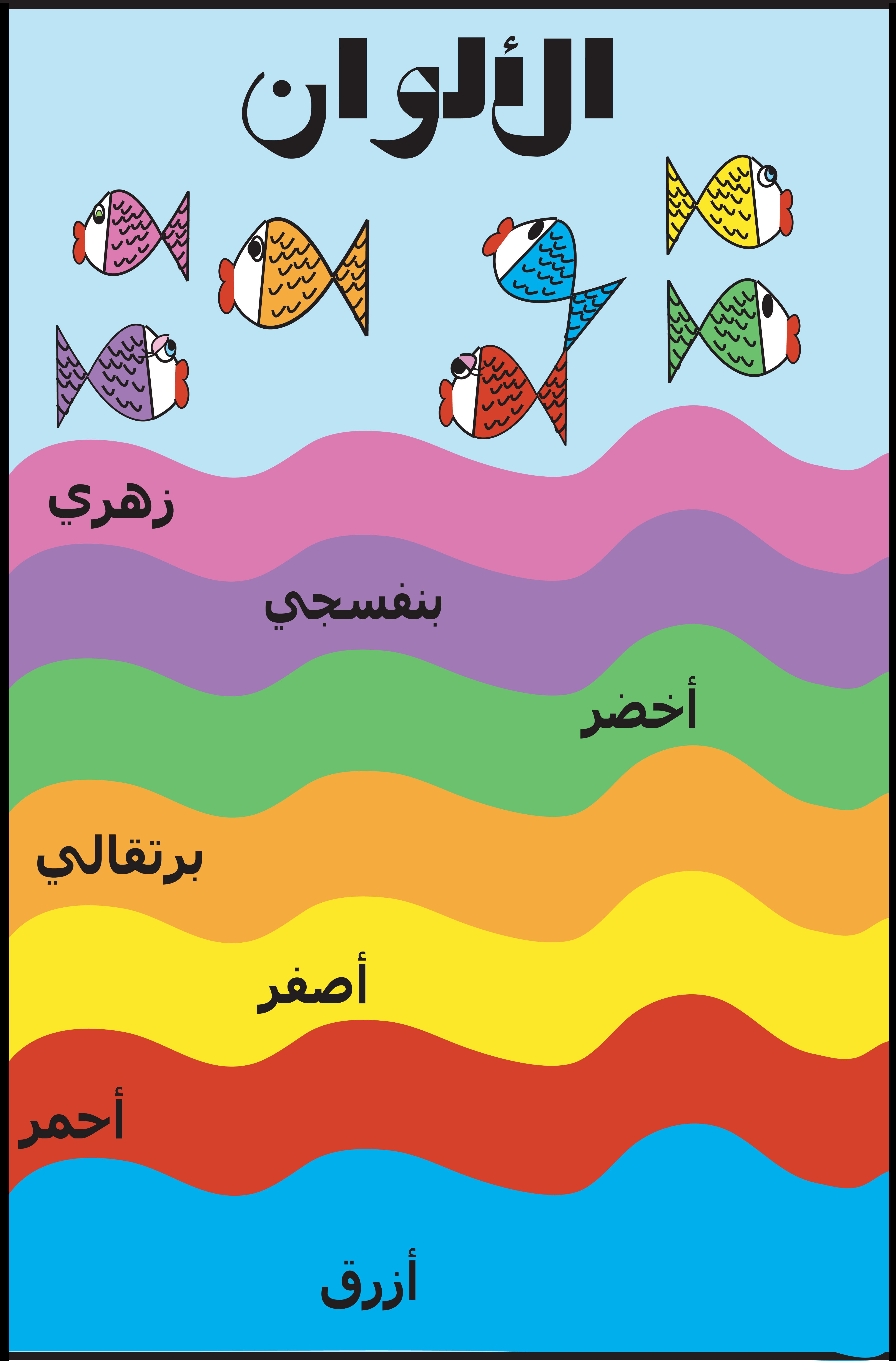 colors poster in arabic my arabic posters for kids pinterest color posters learning. Black Bedroom Furniture Sets. Home Design Ideas