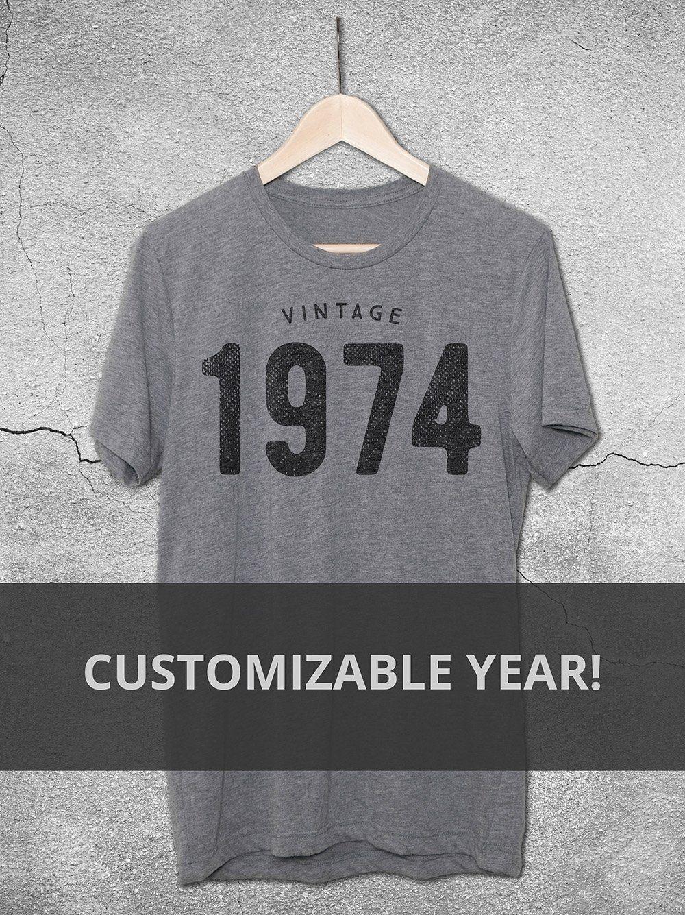 Customizable Vintage Year T Shirt