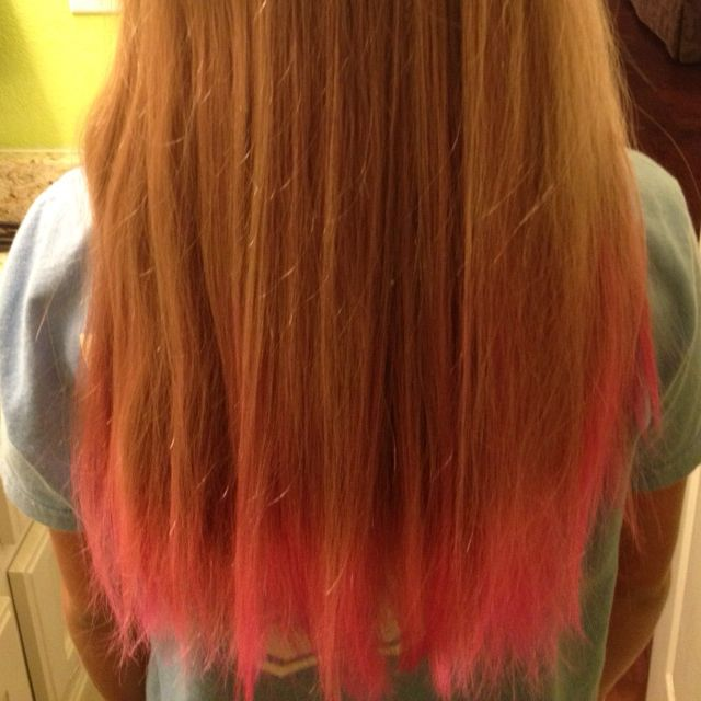 Pink Tipped Hair For Summer Pink Hair Hair Hair Styles