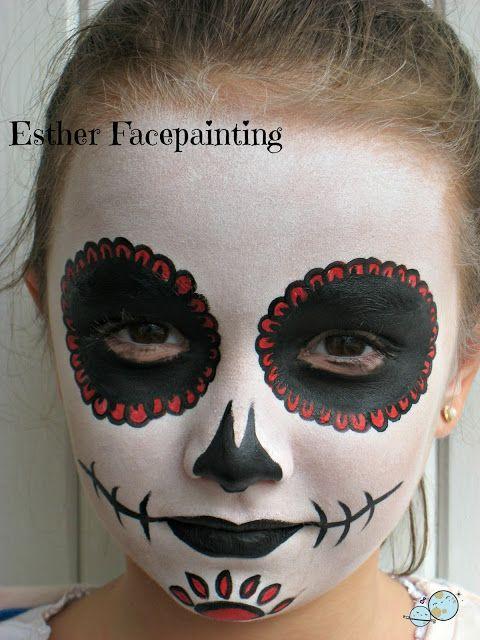 MAQUILLAJE DE HALLOWEEN PARA NIÑOS - CALAVERA MEXICANA día de - maquillaje de halloween para nios