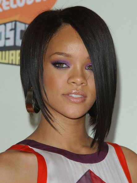 Rihanna Bob Haircut Lace Wig 10 Inches Silky Straight 100% Human Hair Wig #edgybob