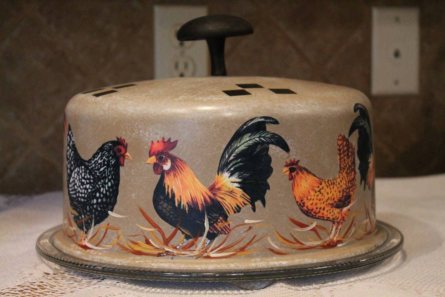 Rooster And Chicken Decorations For Kitchen Roosters And