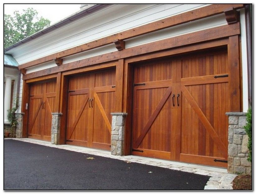 Solid Wood Garage Doors Cost Check More At Http Webhostingservice Technology Info Solid Wood Garage Wooden Garage Doors Garage Doors Residential Garage Doors