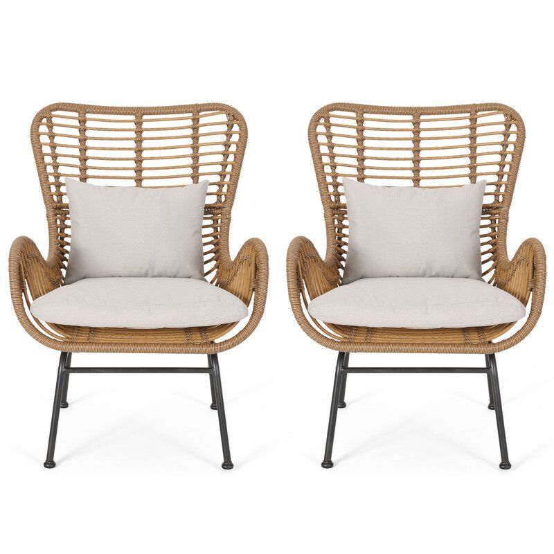 Tarnowski Indoor Wicker Club Chair In 2020 With Images Wicker