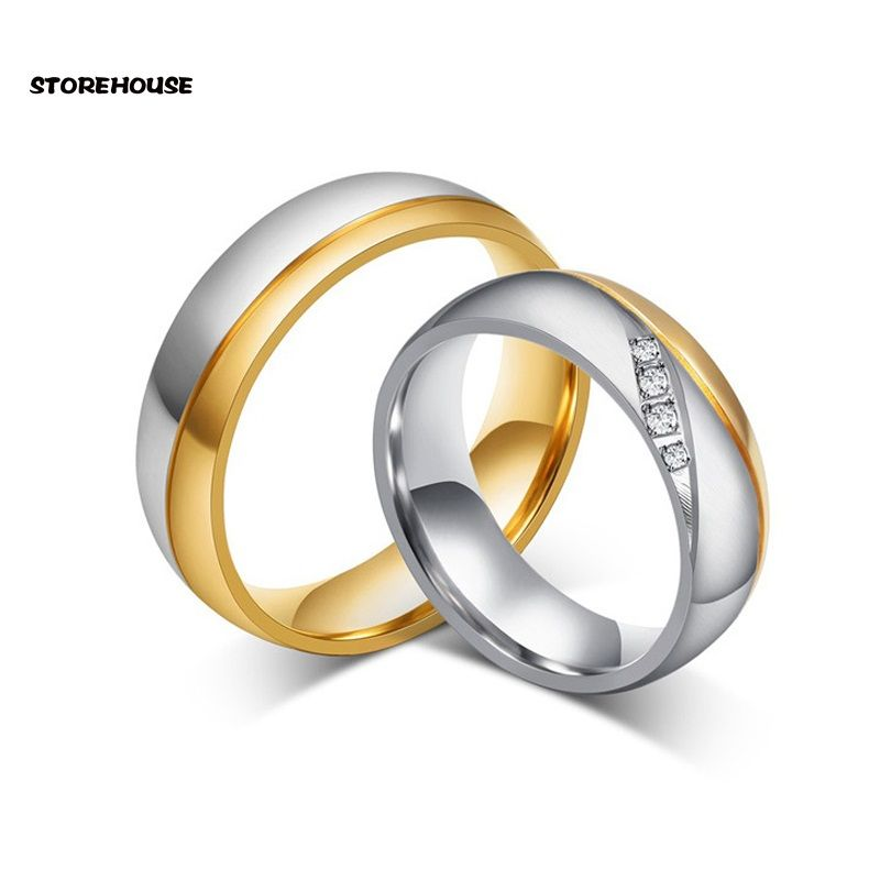 Click to Buy STOREHOUSE Stainless Steel Jewelry Wedding Men Women