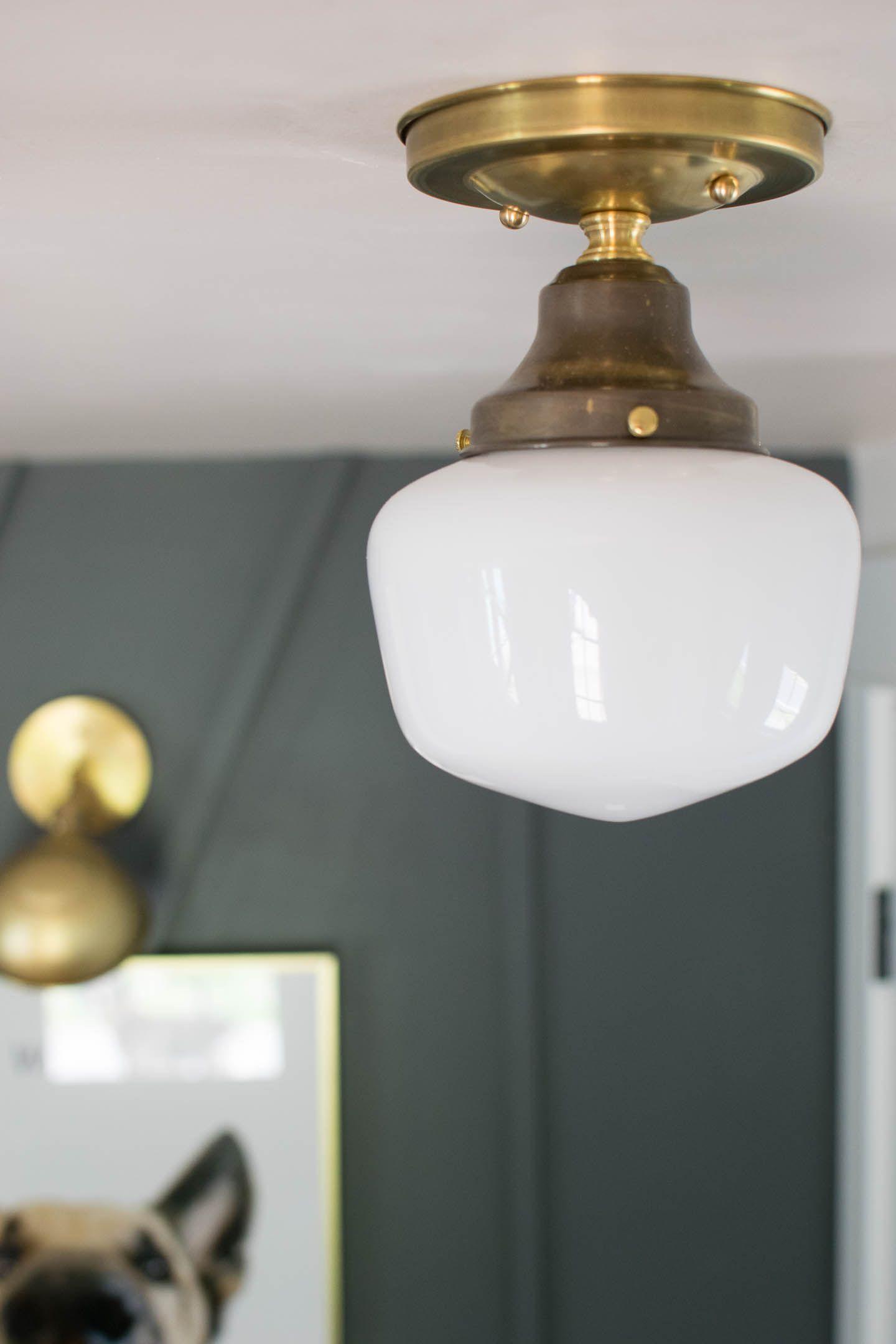Vintage Inspired Lights Br School House Light