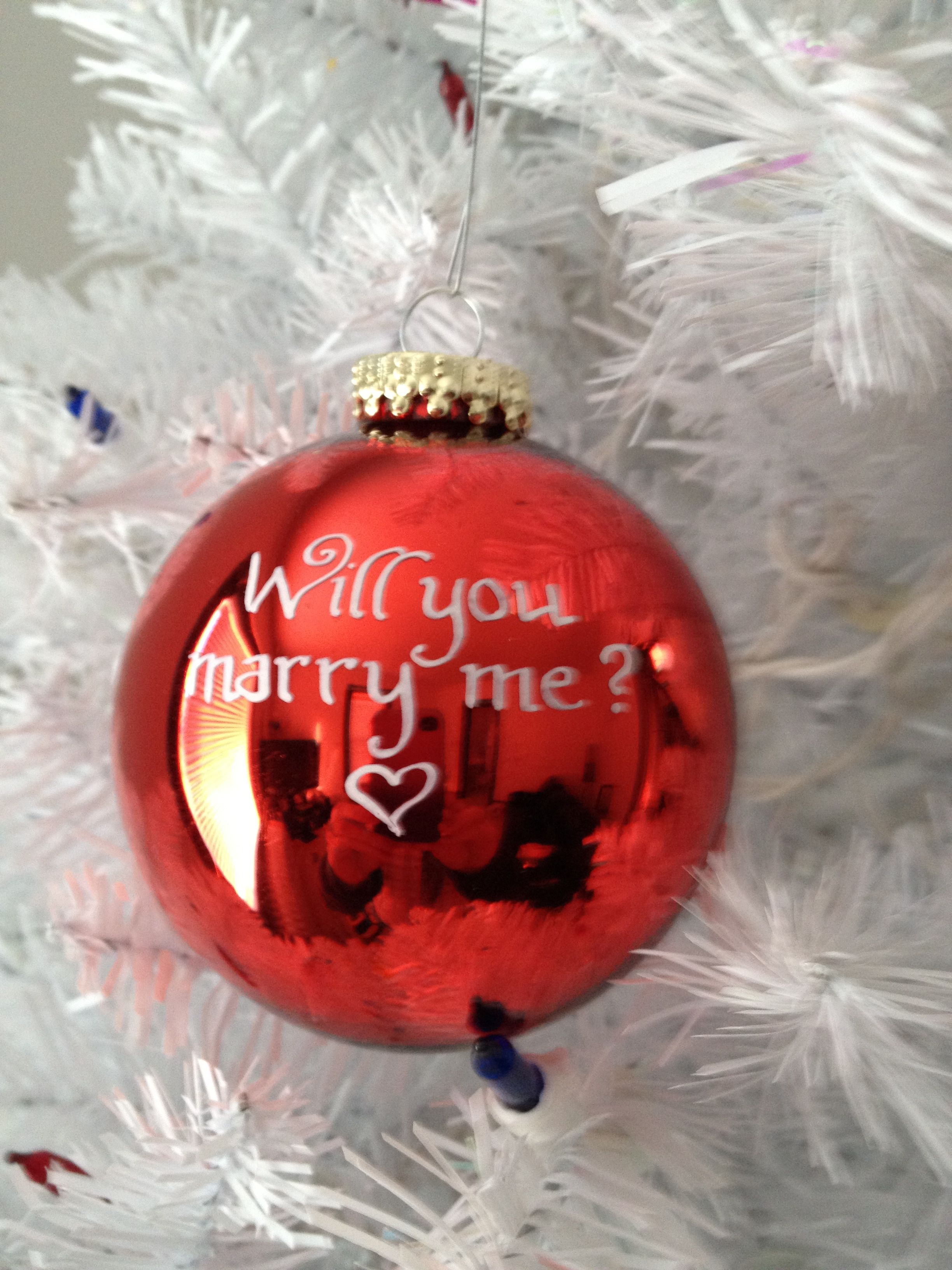 Will you marry me christmas ornament - Will You Marry Me