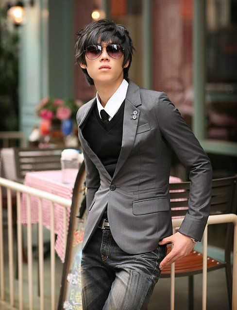 91cee5216 men's gray suit jacket with jeans - Google Search | In love with a ...