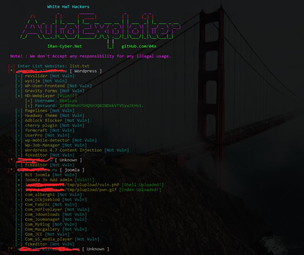 ICG-AutoExploiterBoT: Exploit WordPress, Joomla, Drupal