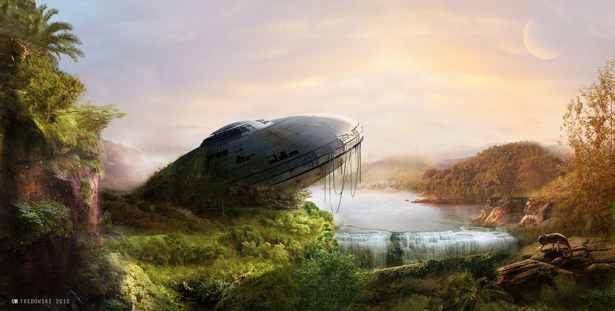 Art illustration - Ovni UFO
