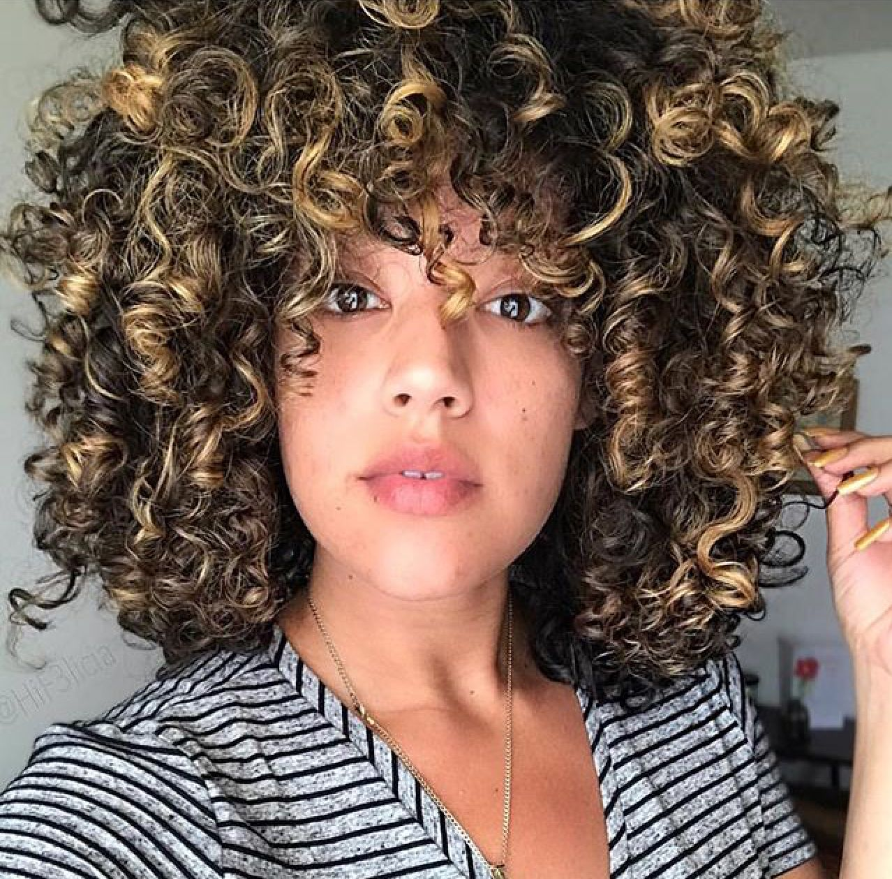 Curly Hair Curly Girl Method Curls With Highlights Hif3licia Save Your Curls Curl Kind Olaplex Curly Girl Method Rachel Hair Natural Hair Styles