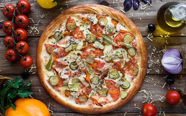 Fondo Para Comida Rapida: Descargar Fondos De Pantalla La Pizza Margarita, La Comida