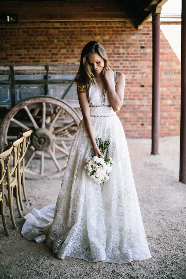 beautiful wedding dress #weddingdress #weddinggown #weddingdresses #vneckweddingdress #sleeveless
