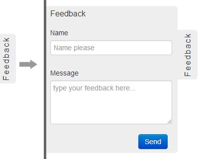 Feedback Me – jQuery Plugin for Sliding Feedback Form   jQuery Plugins