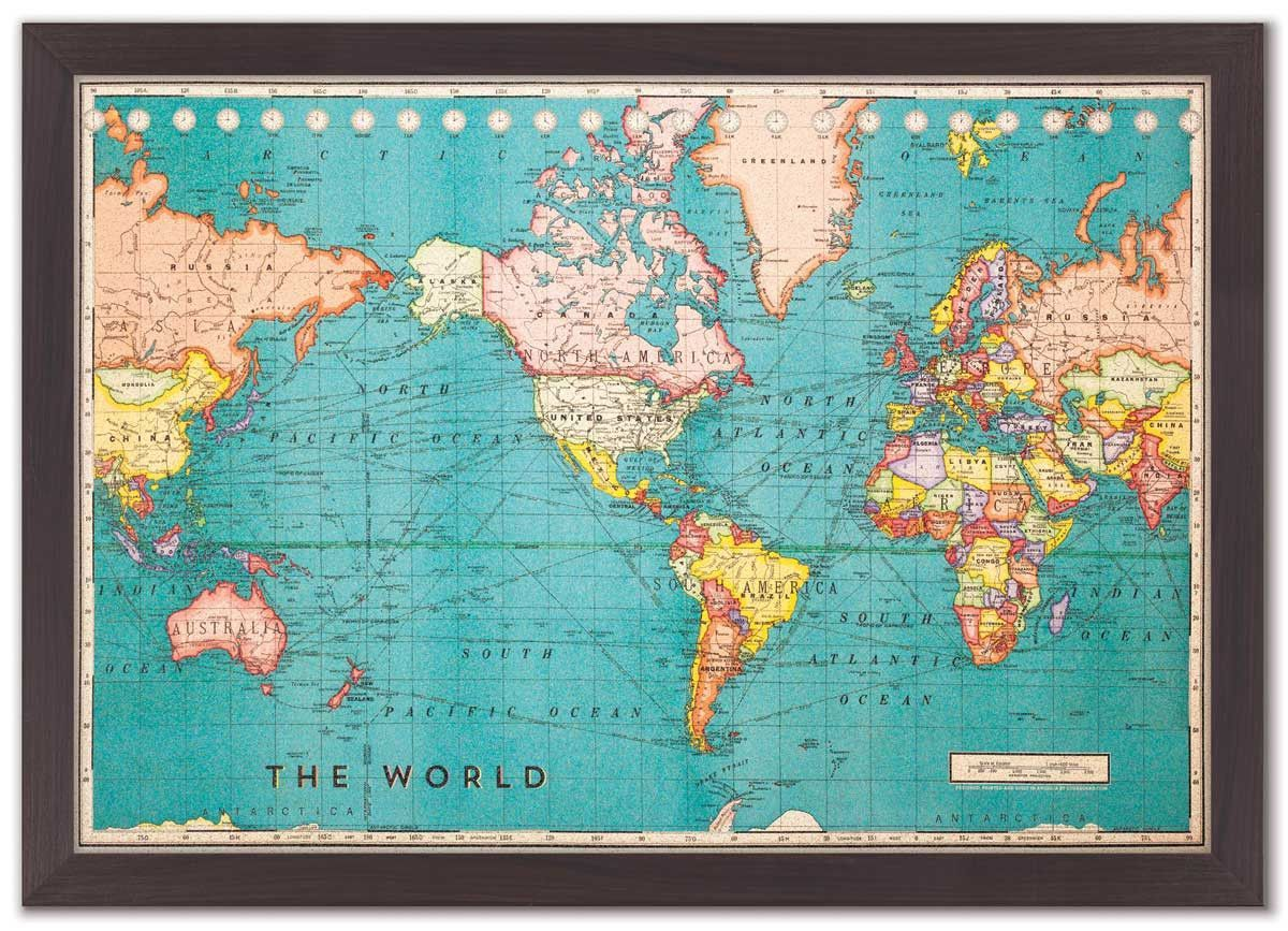 Cork board world map cork boards cork and large cork board cork board world map gumiabroncs Images
