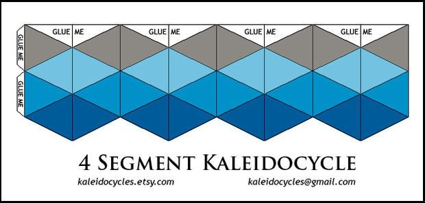 Kaleidocycles Amazing Dynamic Papercraft Paper Crafts Origami