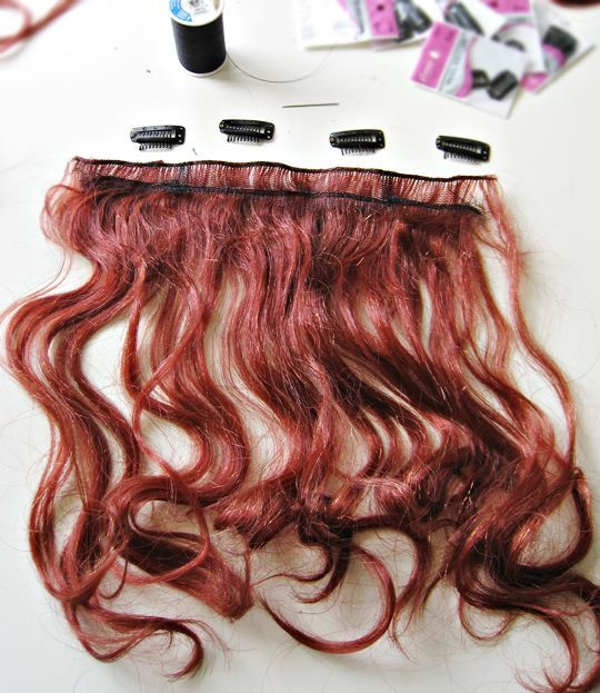 Diy How To Make Clip On Hair Extensions From A Cheap Halloween Wig