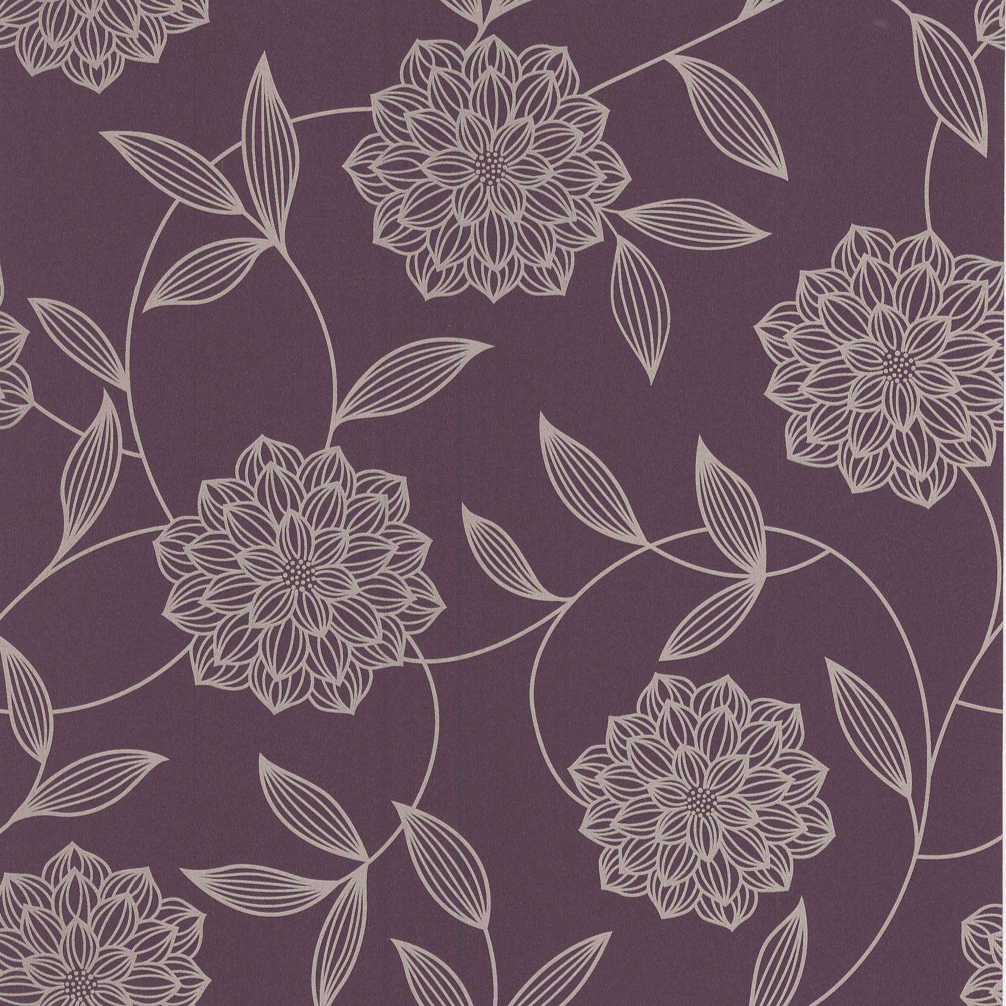 Home diy wallpaper illustration arthouse imagine fern plum motif vinyl - Wallpaper