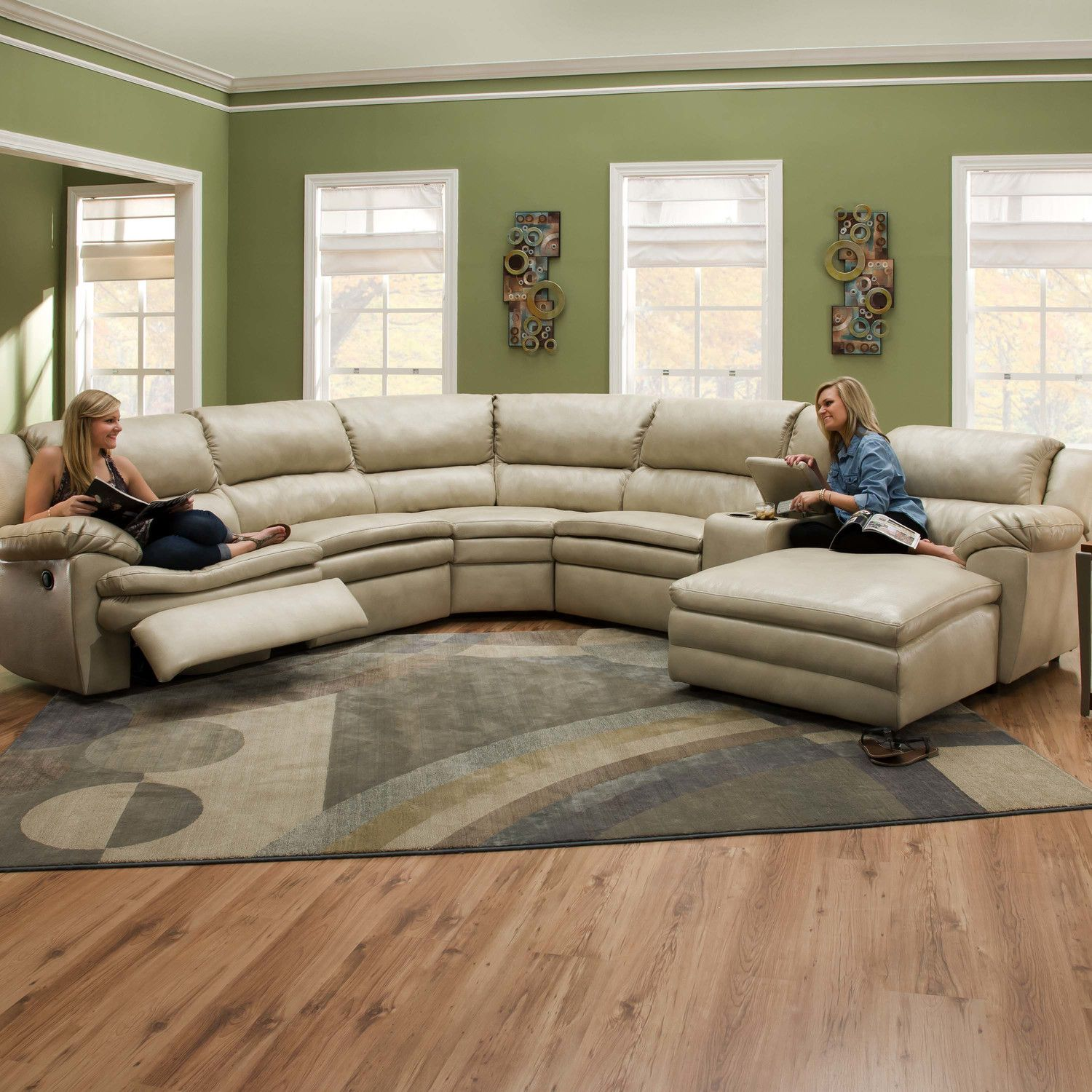 Simmons Upholstery Editor Bonded Leather Sectional