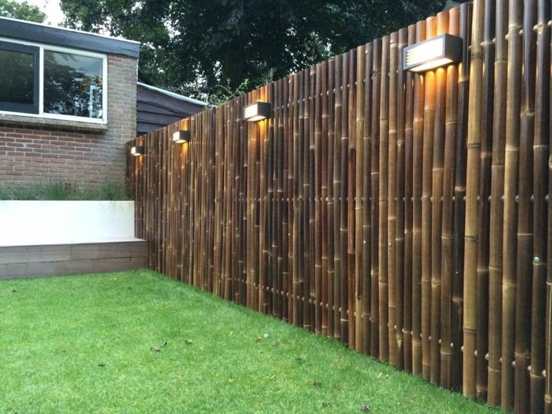 Screen With Decorative Bamboo Fence 50 Original Ideas Bamboogarden Wall Gardenfence Chainlink Privacy Fence Landscaping Bamboo Garden Fences Bamboo Fence
