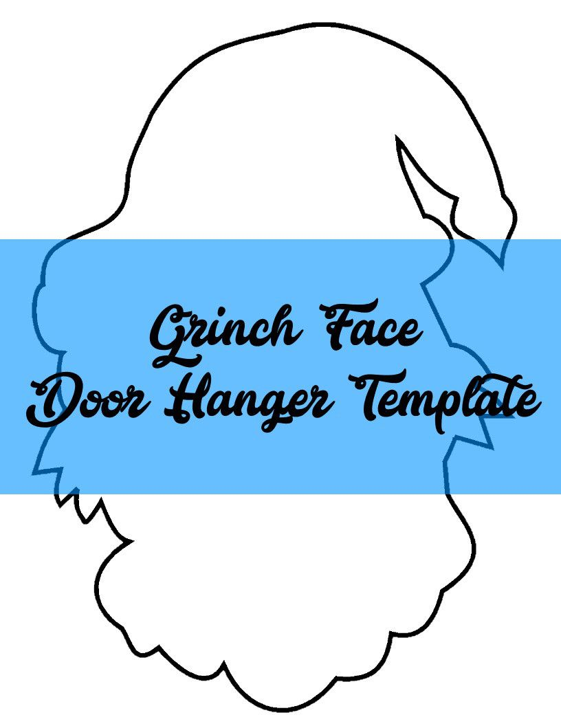 Image result for grinch face template   my front door   Pinterest