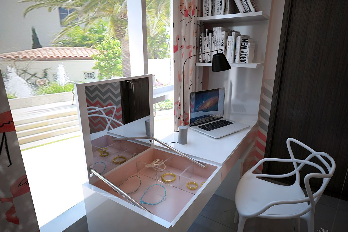 Design by mdesign work space and dressing table work space combine