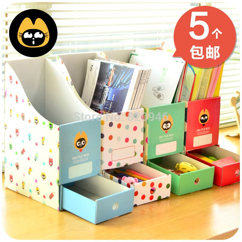 Desktop Paper Storage Box And Bins Desk Bookshelf File Holder Magazine Organizer Instorage Boxes Bins From Home Diy Storage Boxes Paper Storage Diy Storage