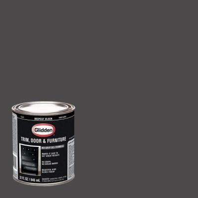 glidden trim and door 1 qt deepest black gloss interior on home depot paint visualizer id=13311