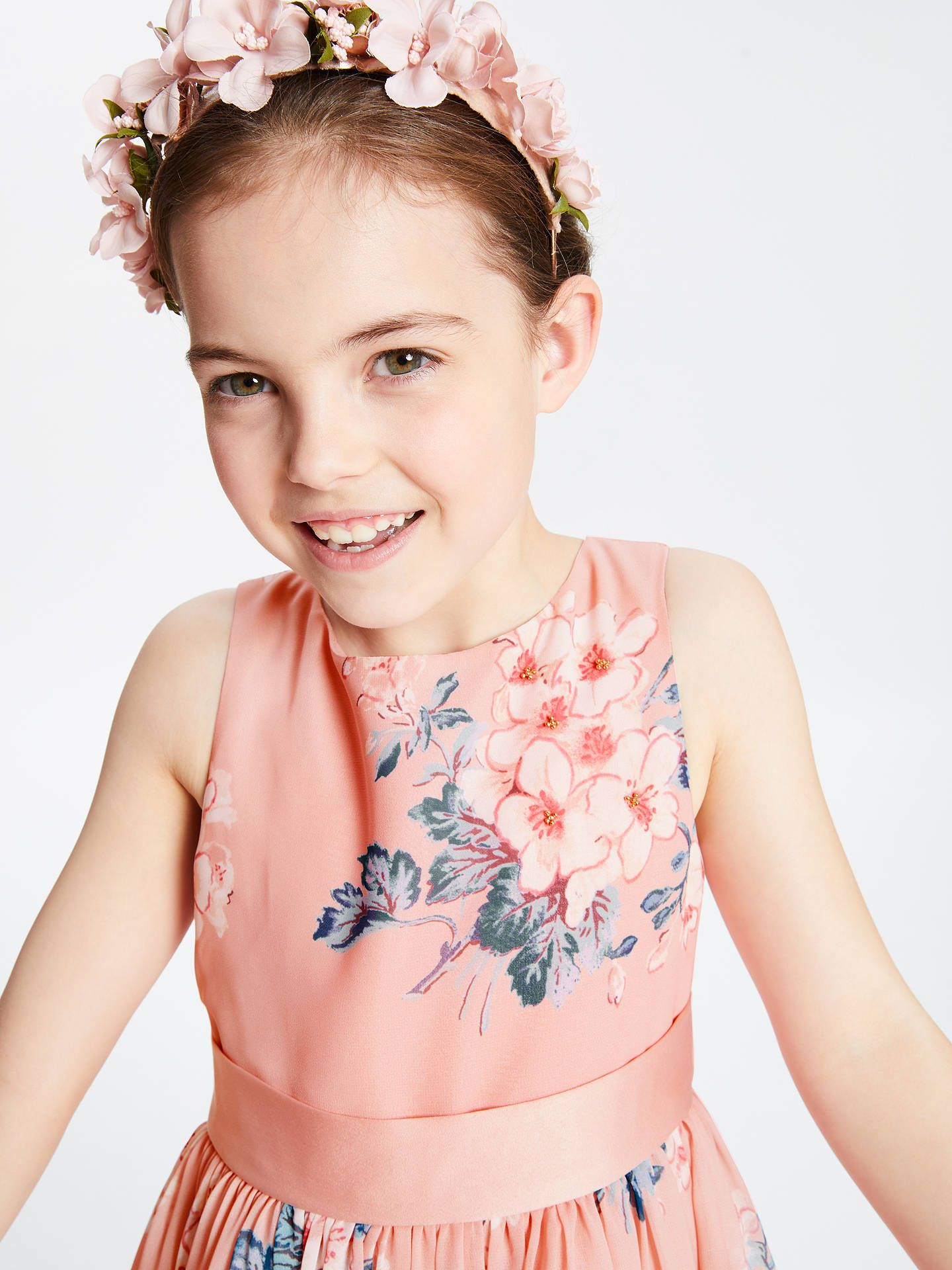 b11b1a26d John Lewis & Partners Heirloom Collection Girls' Floral Dress, Pink at John  Lewis &